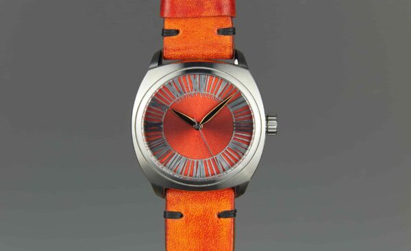 montre orange, orange watch