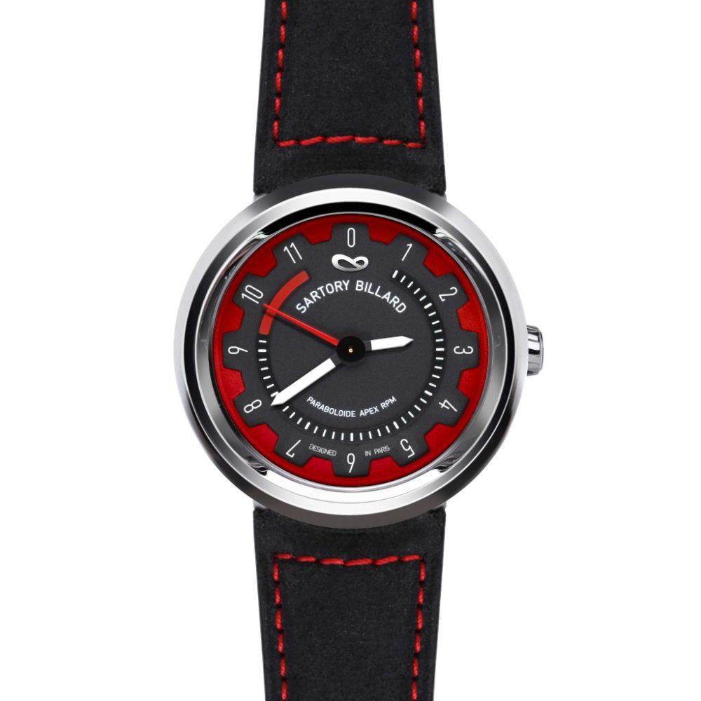 red sport watch