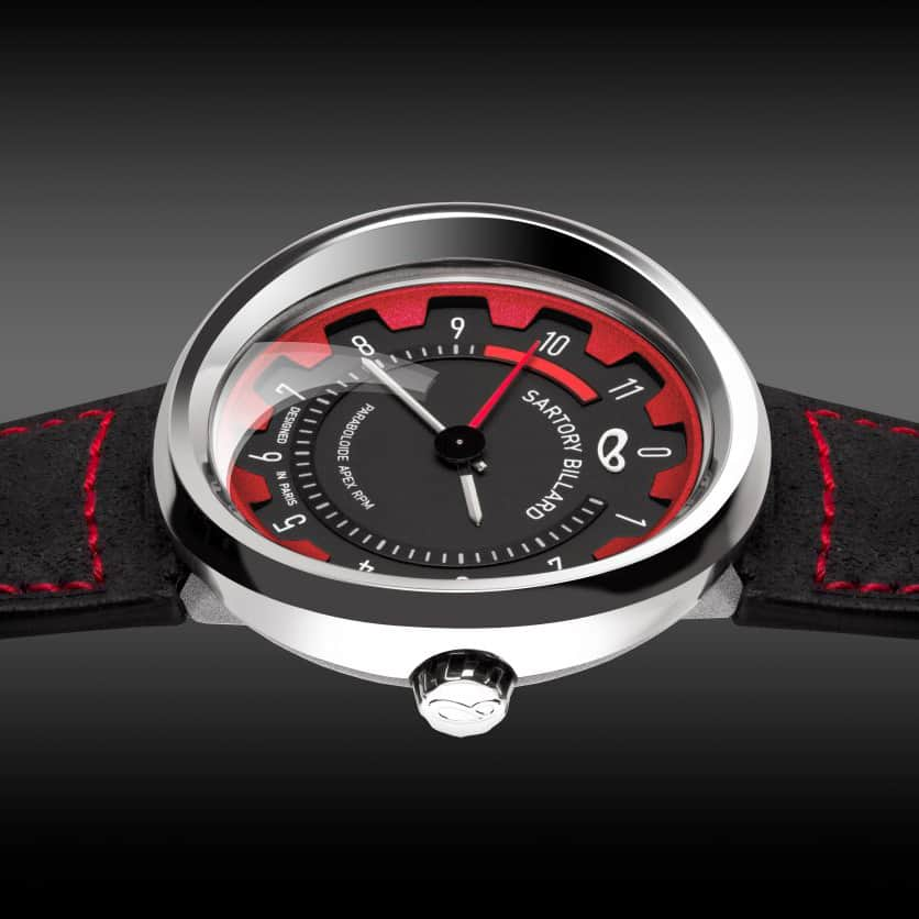watch with red dial, montre cadran rouge