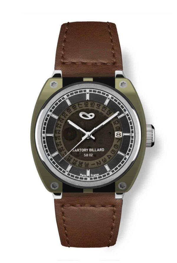 montre verte , green watch