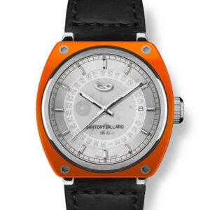 orange watch, montre orange
