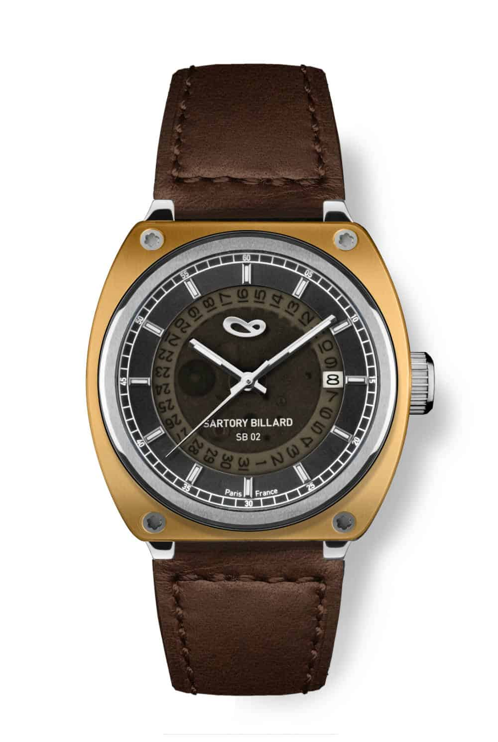 brass watch, montre bronze