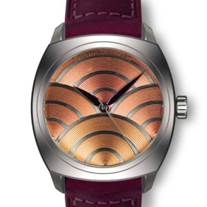 salmon dial watch, montre cadran saumon