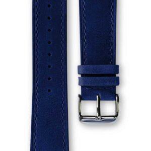 dark blue leather strap, bracelet cuir bleu foncé