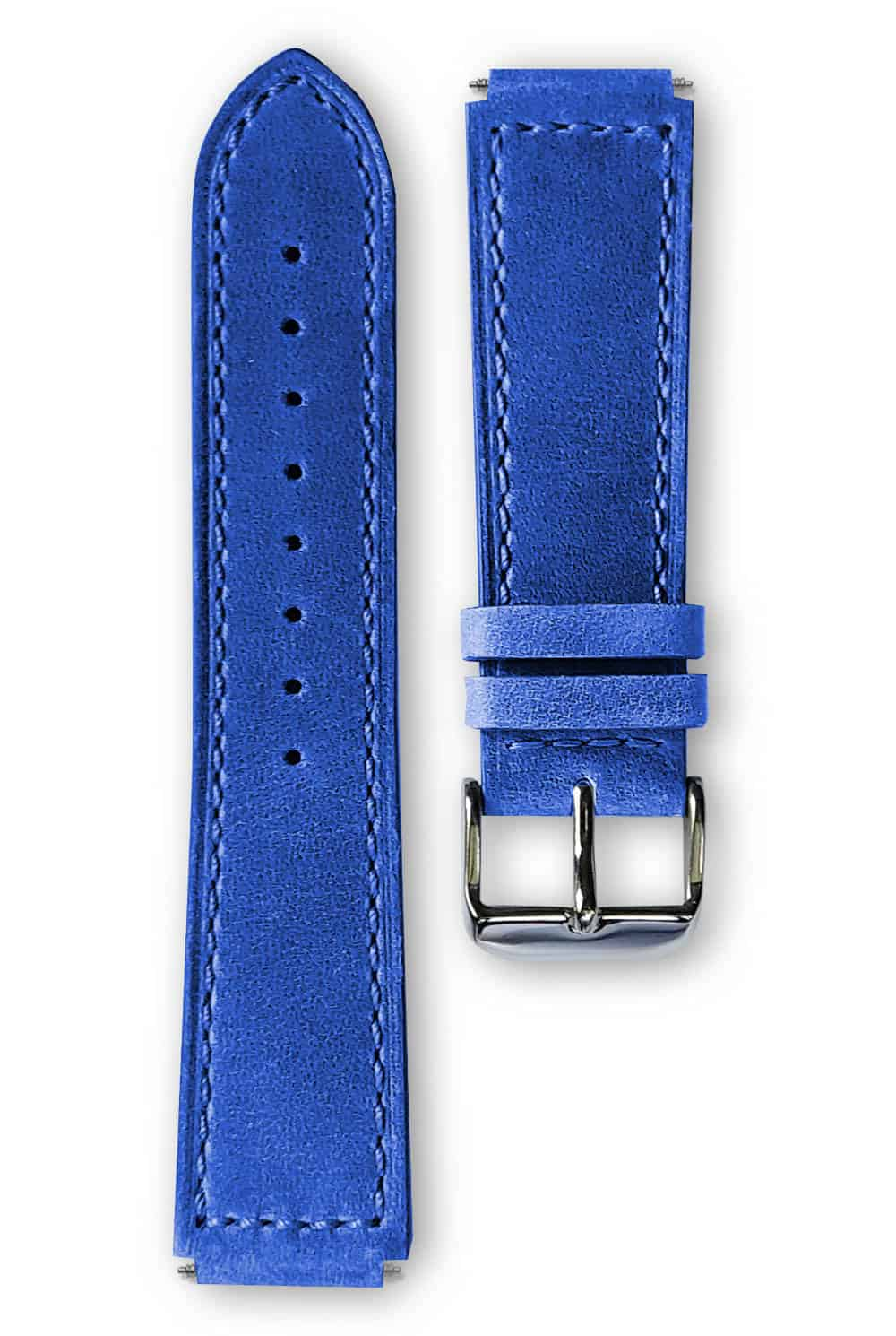 light blue leather strap, bracelet cuir bleu clair