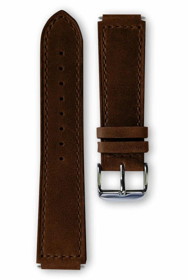 dark brown leather strap, bracelet cuir marron foncé