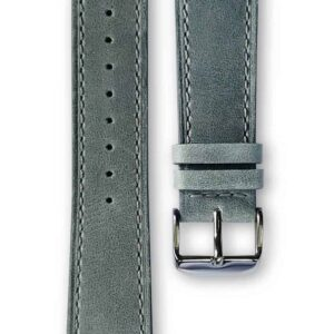 grey leather strap, bracelet cuir gris