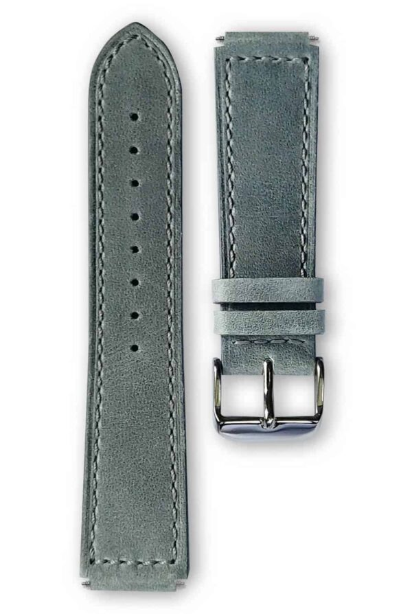 grey leather strap, bracelet cuir gris
