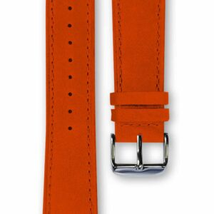 orange leather strap, bracelet cuir orange