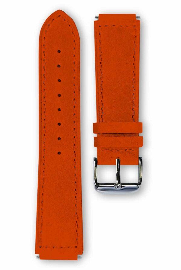 orange leather strap, bracelet cuir orange