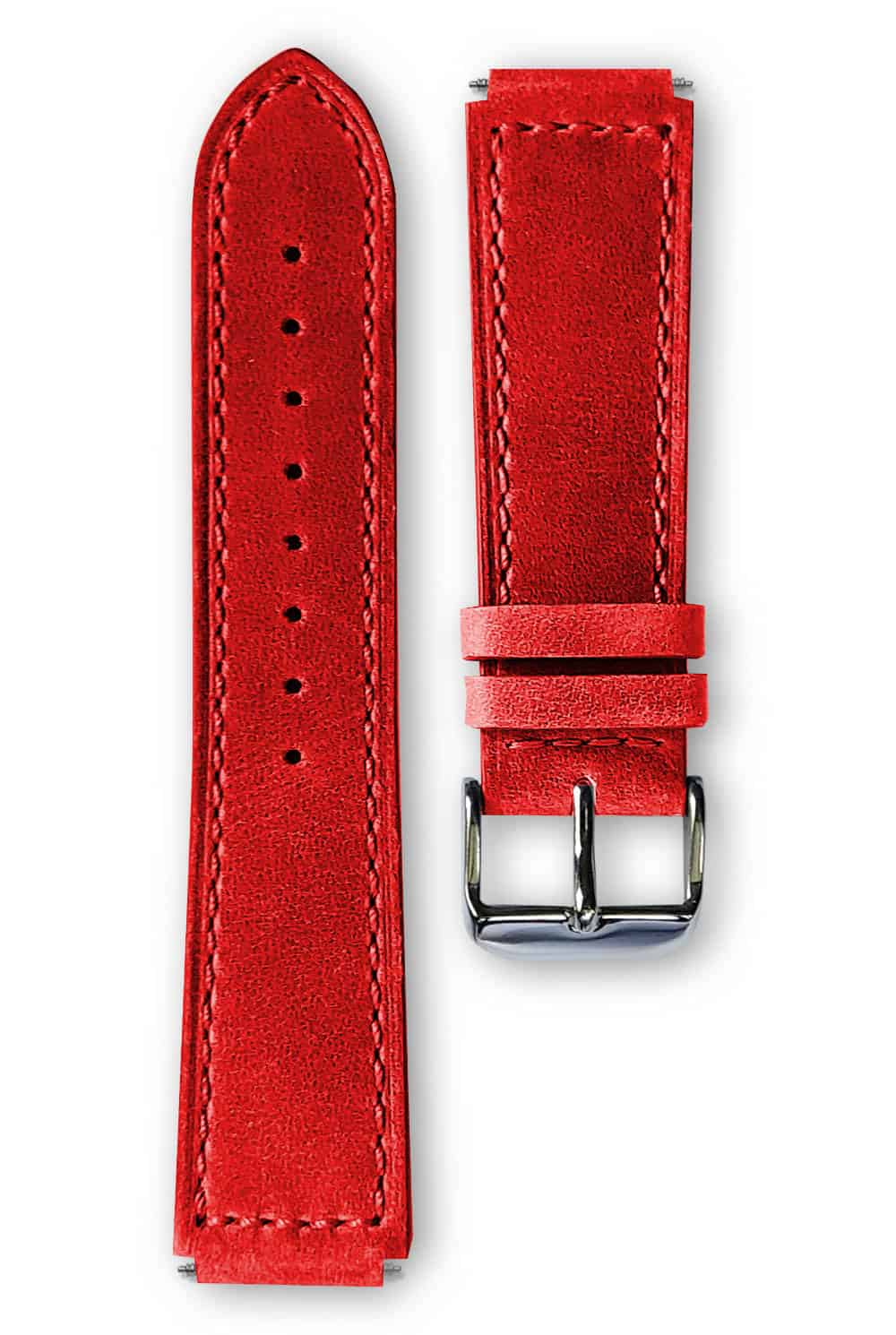 red leather strap, bracelet cuir rouge